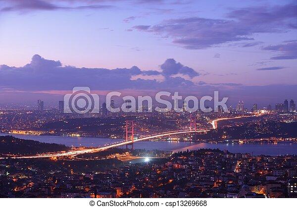 Istanbul Turkey Bosporus Bridge - csp13269668