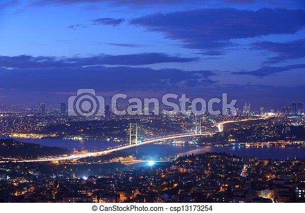 Istanbul Turkey Bosporus Bridge - csp13173254