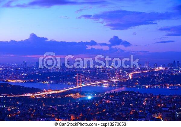 Istanbul Turkey Bosporus Bridge - csp13270053