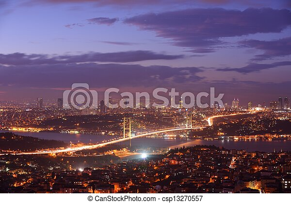 Istanbul Turkey Bosporus Bridge - csp13270557
