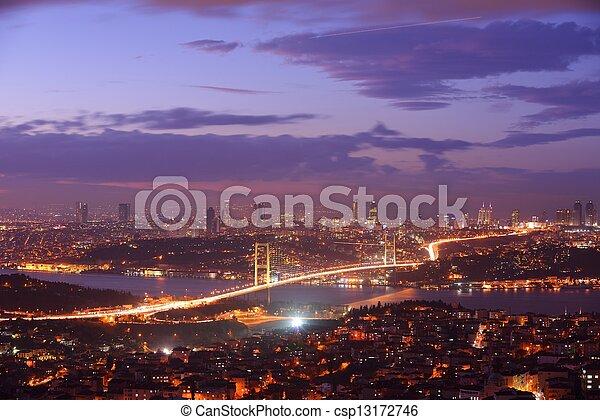 Istanbul Turkey Bosporus Bridge - csp13172746