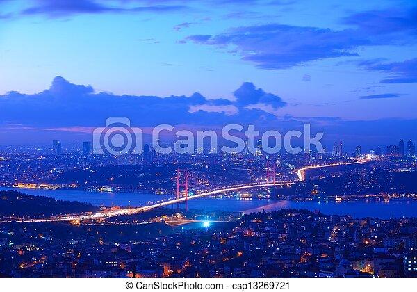 Istanbul Turkey Bosporus Bridge - csp13269721