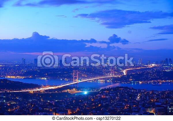 Istanbul Turkey Bosporus Bridge - csp13270122