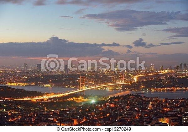 Istanbul Turkey Bosporus Bridge - csp13270249