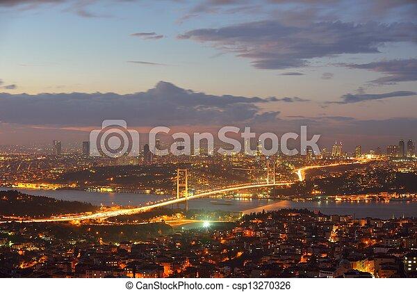 Istanbul Turkey Bosporus Bridge - csp13270326