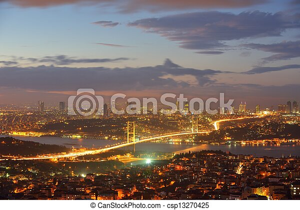 Istanbul Turkey Bosporus Bridge - csp13270425