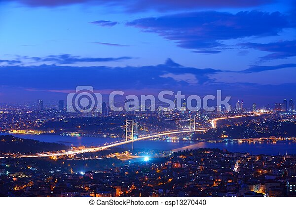 Istanbul Turkey Bosporus Bridge - csp13270440