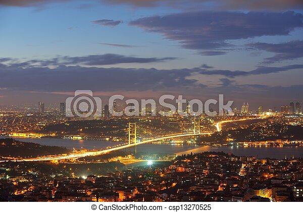 Istanbul Turkey Bosporus Bridge - csp13270525