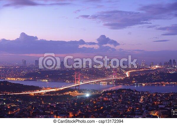 Istanbul Turkey Bosporus Bridge - csp13172394