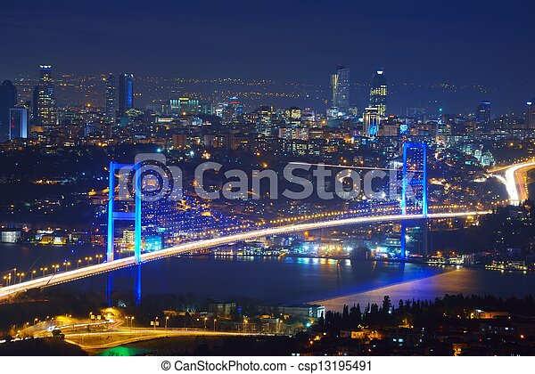 Istanbul Turkey Bosporus Bridge - csp13195491