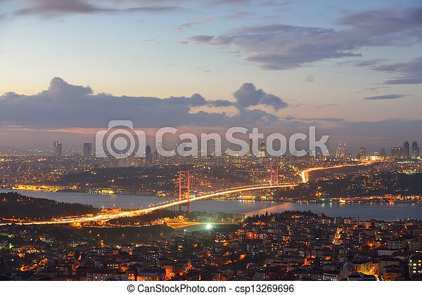 Istanbul Turkey Bosporus Bridge - csp13269696