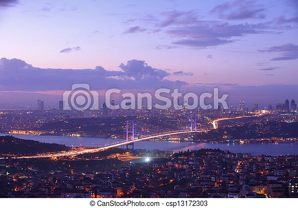 Istanbul Turkey Bosporus Bridge - csp13172303