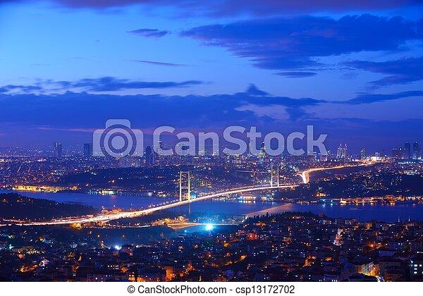 Istanbul Turkey Bosporus Bridge - csp13172702