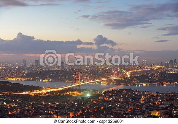 Istanbul Turkey Bosporus Bridge - csp13269601