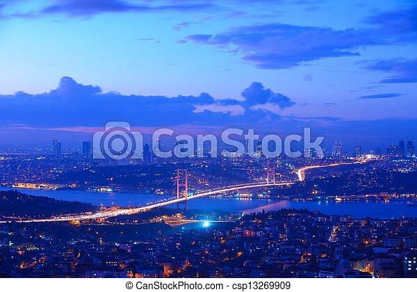 Istanbul Turkey Bosporus Bridge - csp13269909