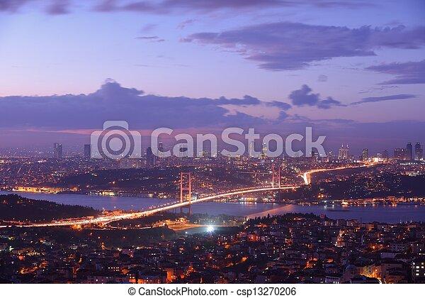 Istanbul Turkey Bosporus Bridge - csp13270206