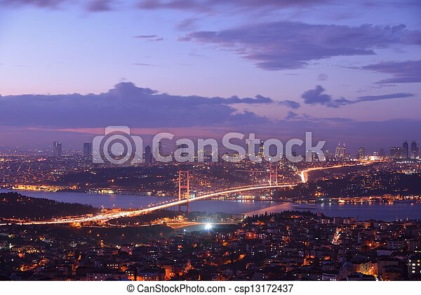 Istanbul Turkey Bosporus Bridge - csp13172437