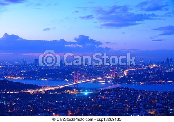 Istanbul Turkey Bosporus Bridge - csp13269135