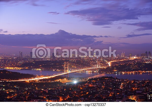 Istanbul Turkey Bosporus Bridge - csp13270337