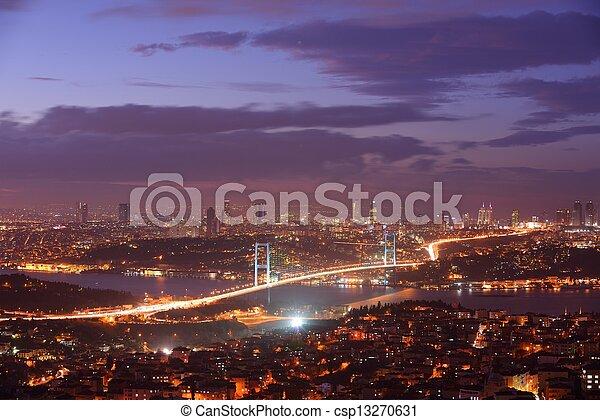 Istanbul Turkey Bosporus Bridge - csp13270631