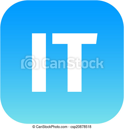 It Domain Icon Italy Or Information Technology It Domain Icon