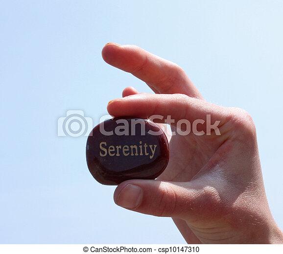 it., geschreven, sereniteit, rots - csp10147310