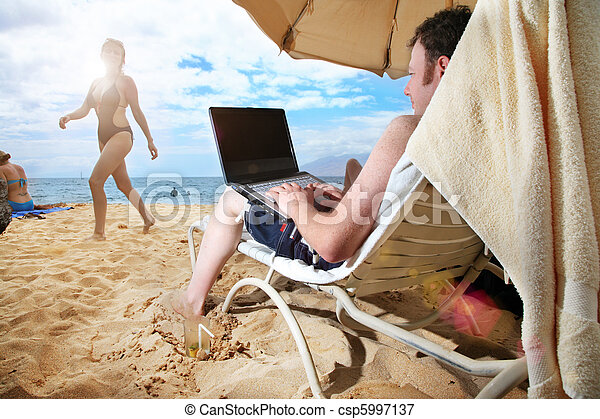 IT guy's vacation - csp5997137