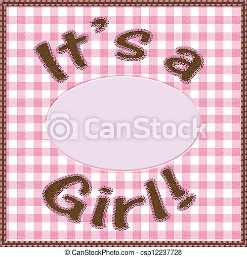 it is a girl baby announcement csp12237728