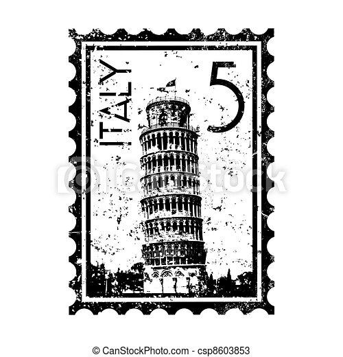 Ilustración de vectores de un icono aislado de Italia - csp8603853