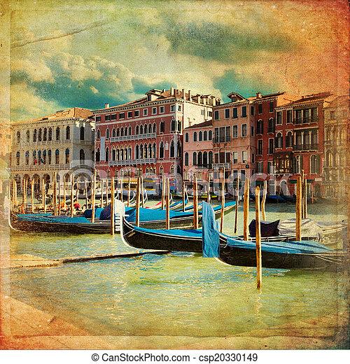 Venecia, Italia, gran canal - csp20330149
