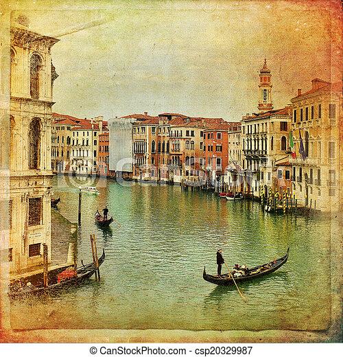 Venecia, Italia, gran canal - csp20329987