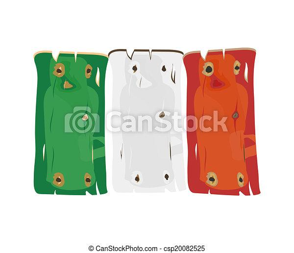 italiaanse , hout, geverfde, vlag - csp20082525