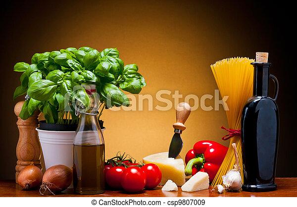 italian cuisine food - csp9807009