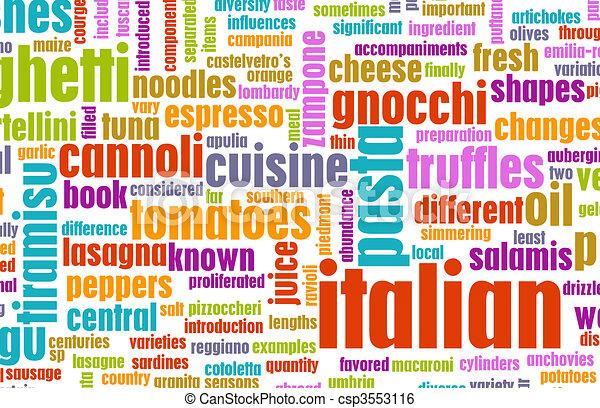 Italian Cuisine - csp3553116