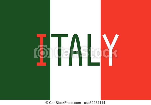 italian flag and word italy italian flag in correct proportions and rh canstockphoto com waving italian flag clipart italian flag clipart free