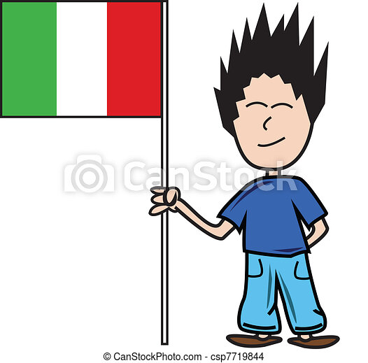 proud young male holding the italian flag eps vector search clip rh canstockphoto com italian clip art free italian clip art free downloads