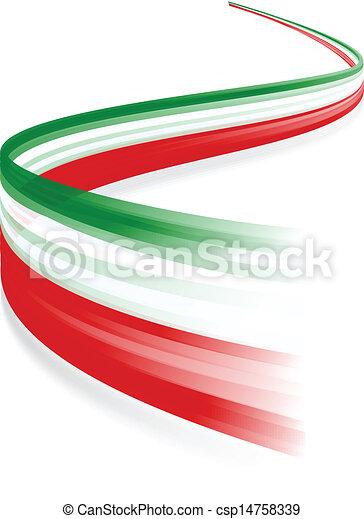 Italian flag - csp14758339