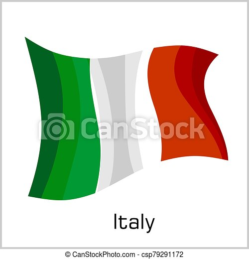 Italian flag, flag of Italy vector illustration - csp79291172