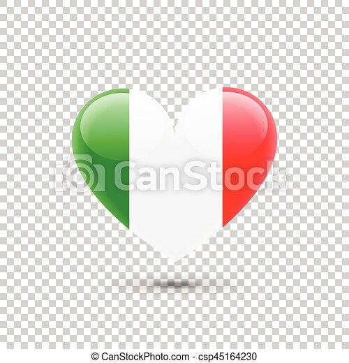 Italian Flag Heart Icon
