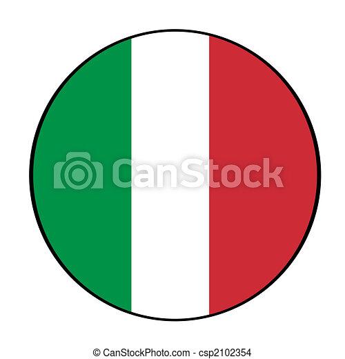 italian flag icon button circular icon button in colors of rh canstockphoto com italian flag clipart free