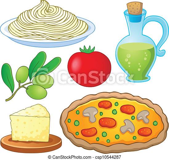 Italian Food Collection 1 Vector Illustration