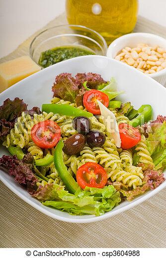 italian fusilli pasta salad - csp3604988