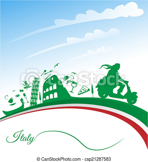 Italian holidays background  - csp21287583