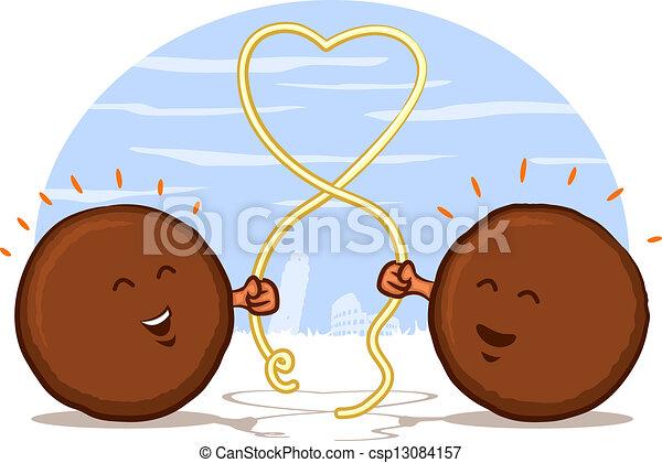 italian meatball cartoon meatballs with spaghetti heart clipart rh canstockphoto com spaghetti and meatball clipart free spaghetti and meatball clipart free