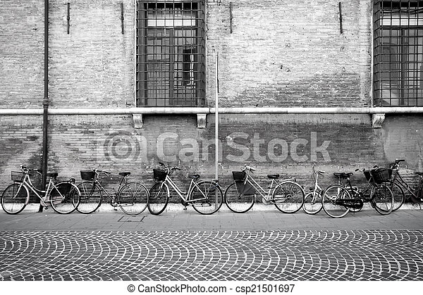 Italian old-style bicycles - csp21501697