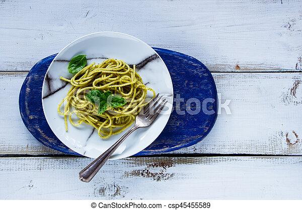 Italian pasta dinner - csp45455589