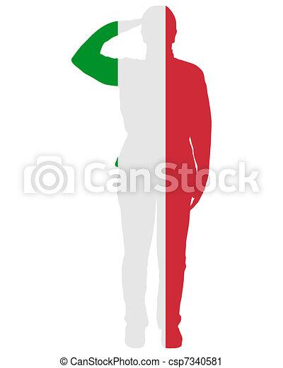 Italian Salute - csp7340581