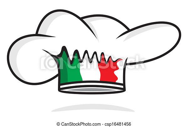 italiano, chapéu, cozinheiro - csp16481456