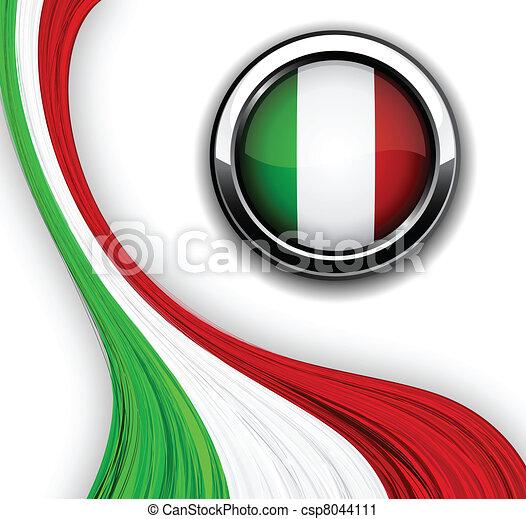 italiano, flag. - csp8044111