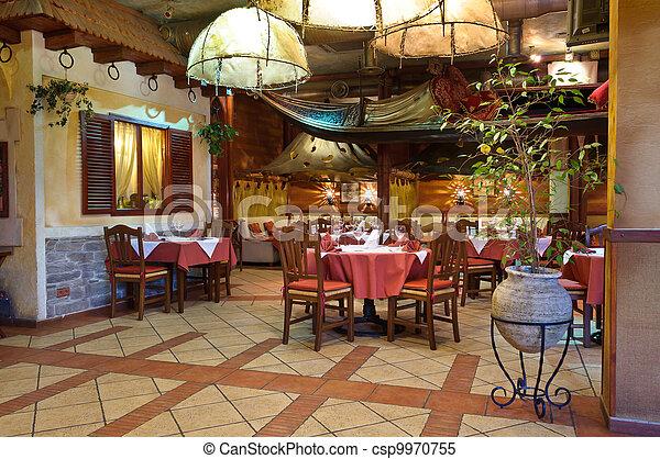 italiano, restaurante - csp9970755